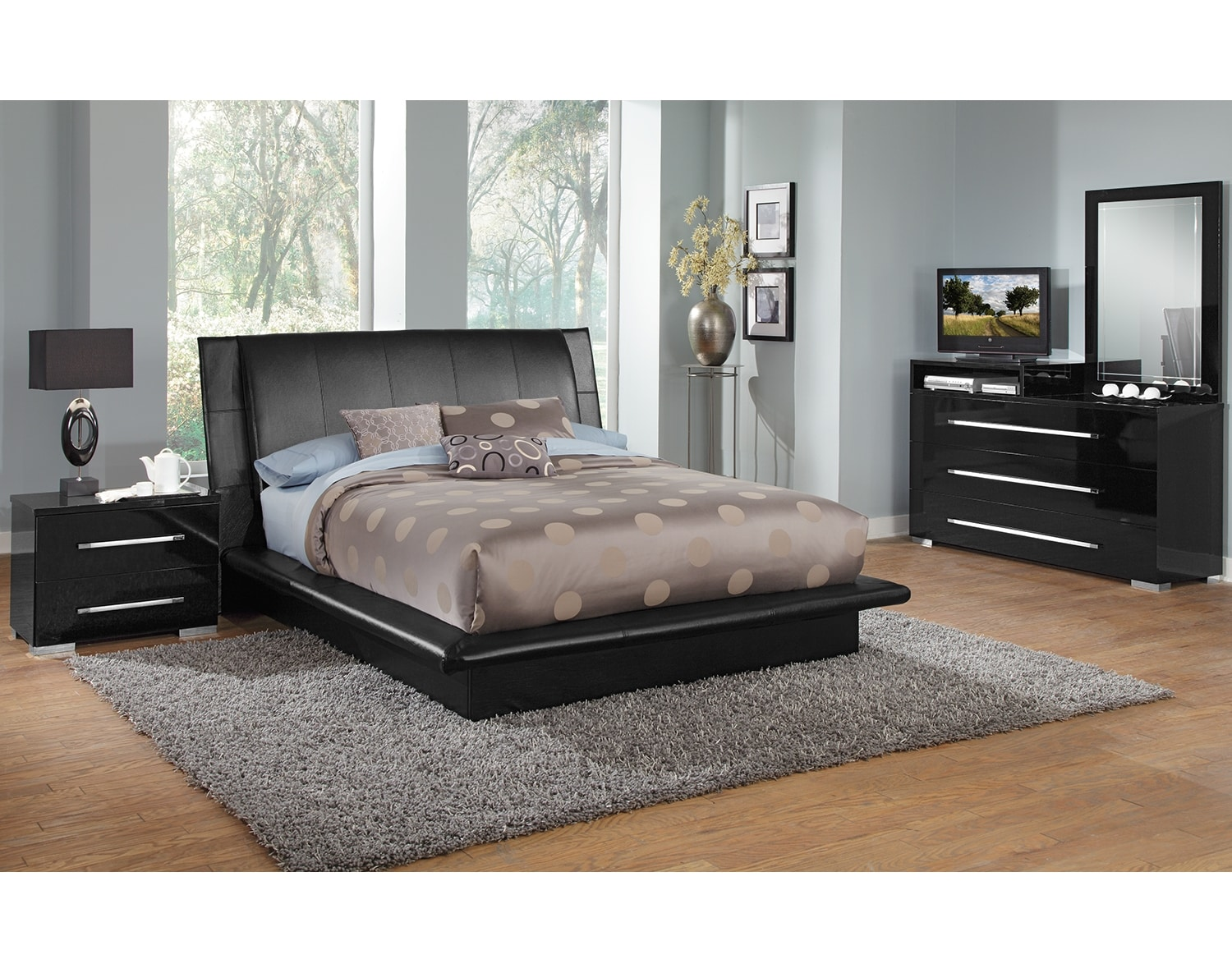 dimora bedroom set the dimora upholstered collection black value city 11428