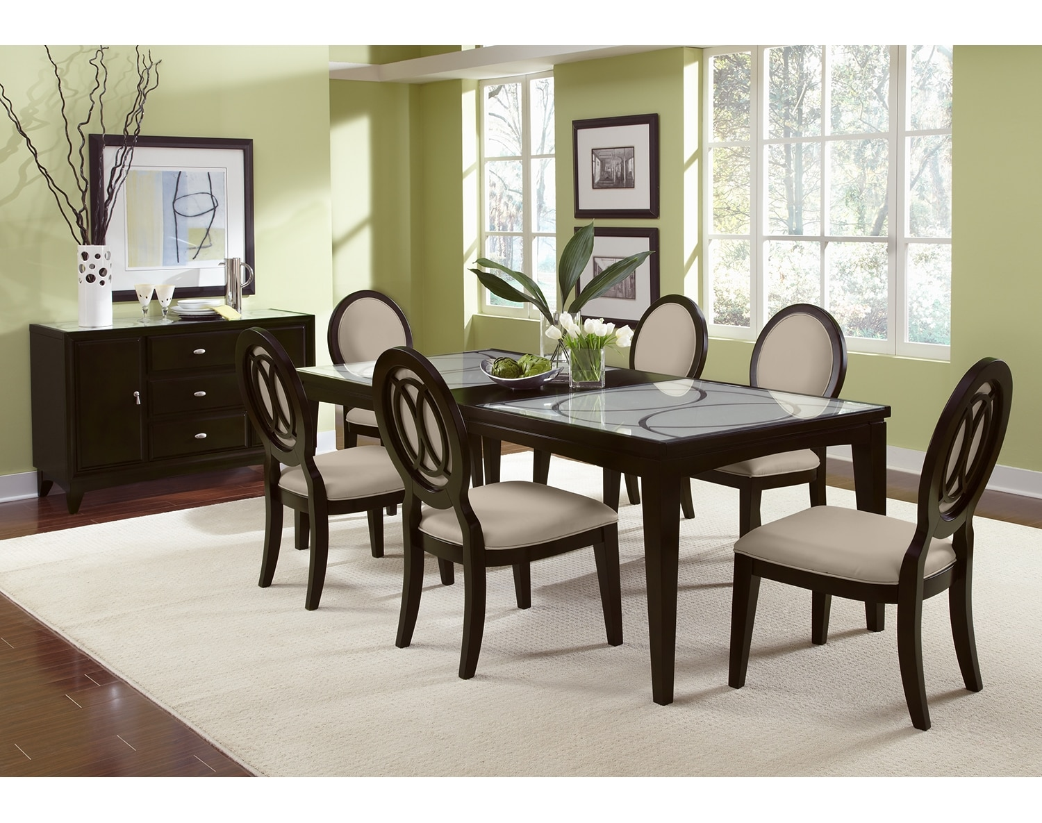 the cosmo collection merlot 35999 cosmo dining table merlot the cosmo collection - Dining Room Sets Value City Furniture