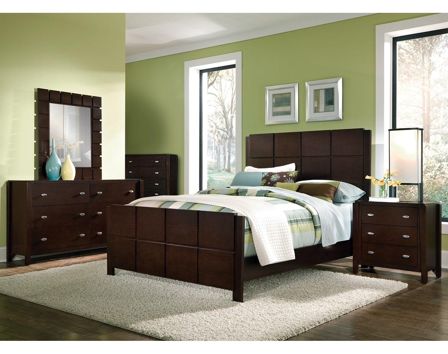 The Mosaic Collection Dark Brown Value City Furniture and