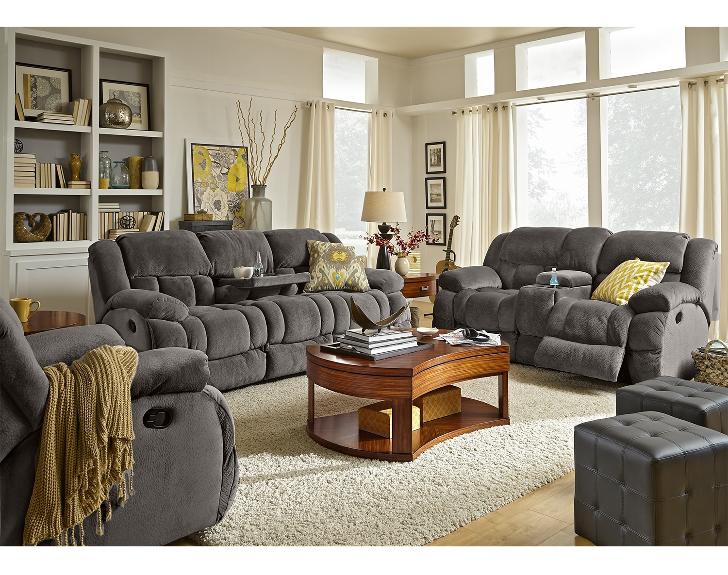 Value City Living Room Furniture The Park City Collection Gray Value City Furniture