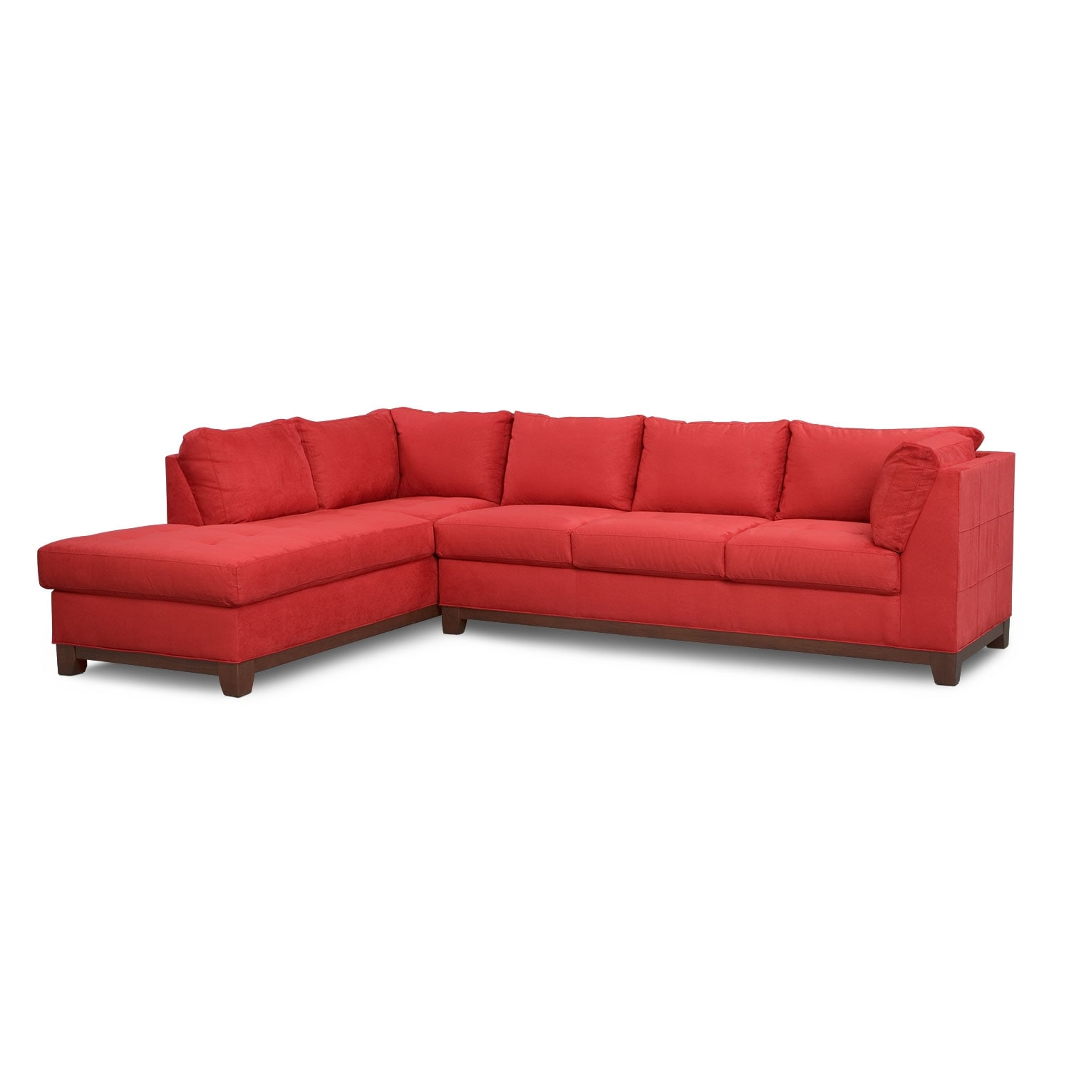 Soho 2 Piece Sectional with Left Facing Chaise Red