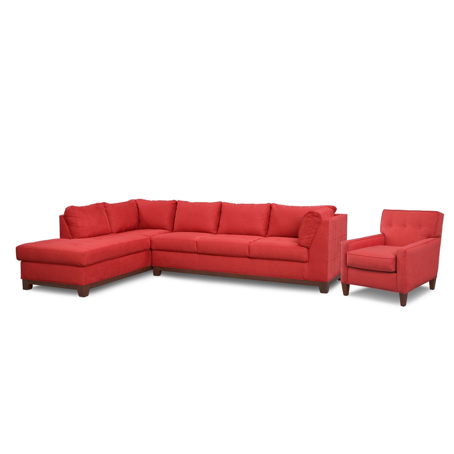 Living Room Furniture - Soho 2 Pc. Sectional (Reverse) and Accent Chair