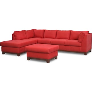 Soho 2-Piece Sectional with Chaise and Ottoman
