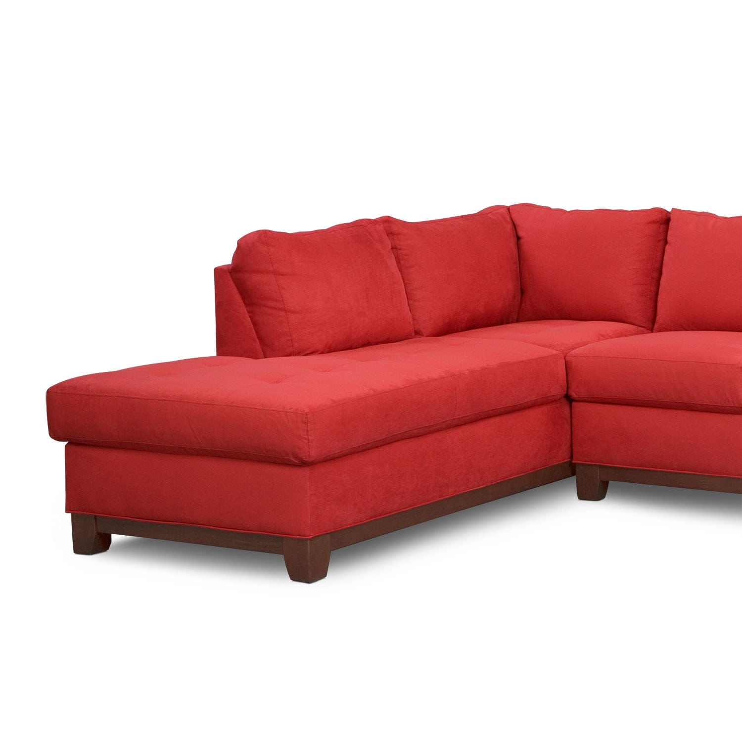 soho piece sectional with leftfacing chaise  red  value city  - click to change image