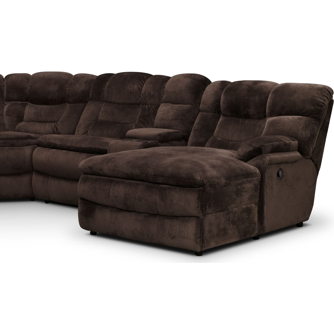 Phenomenal Big Softie 6 Piece Power Reclining Sectional With Chaise And 2 Reclining Seats Dailytribune Chair Design For Home Dailytribuneorg