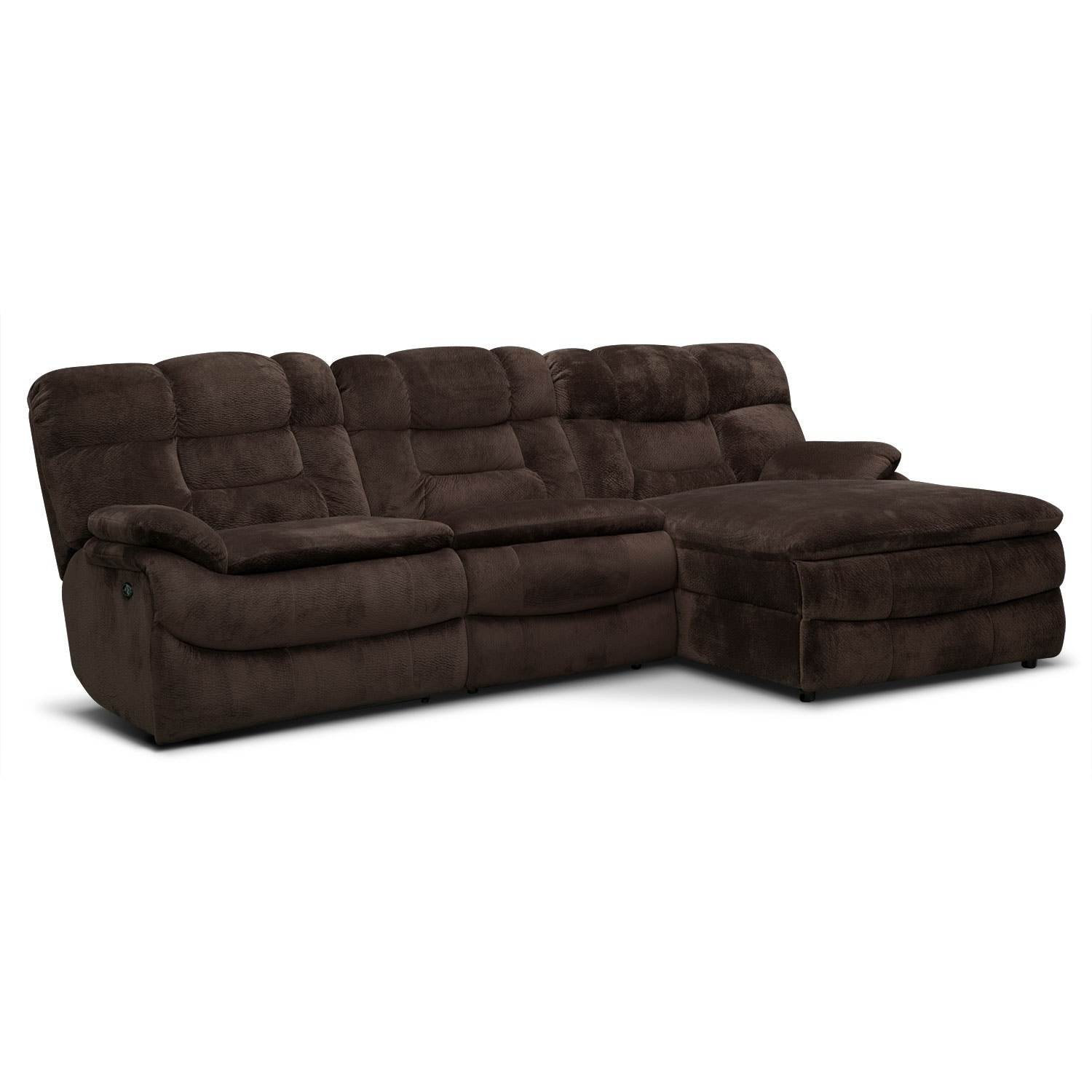 big softie 3 piece power reclining sectional with right. Black Bedroom Furniture Sets. Home Design Ideas