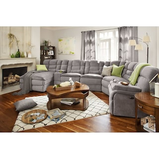 Big Softie 6-Piece Power Reclining Sectional with Chaise