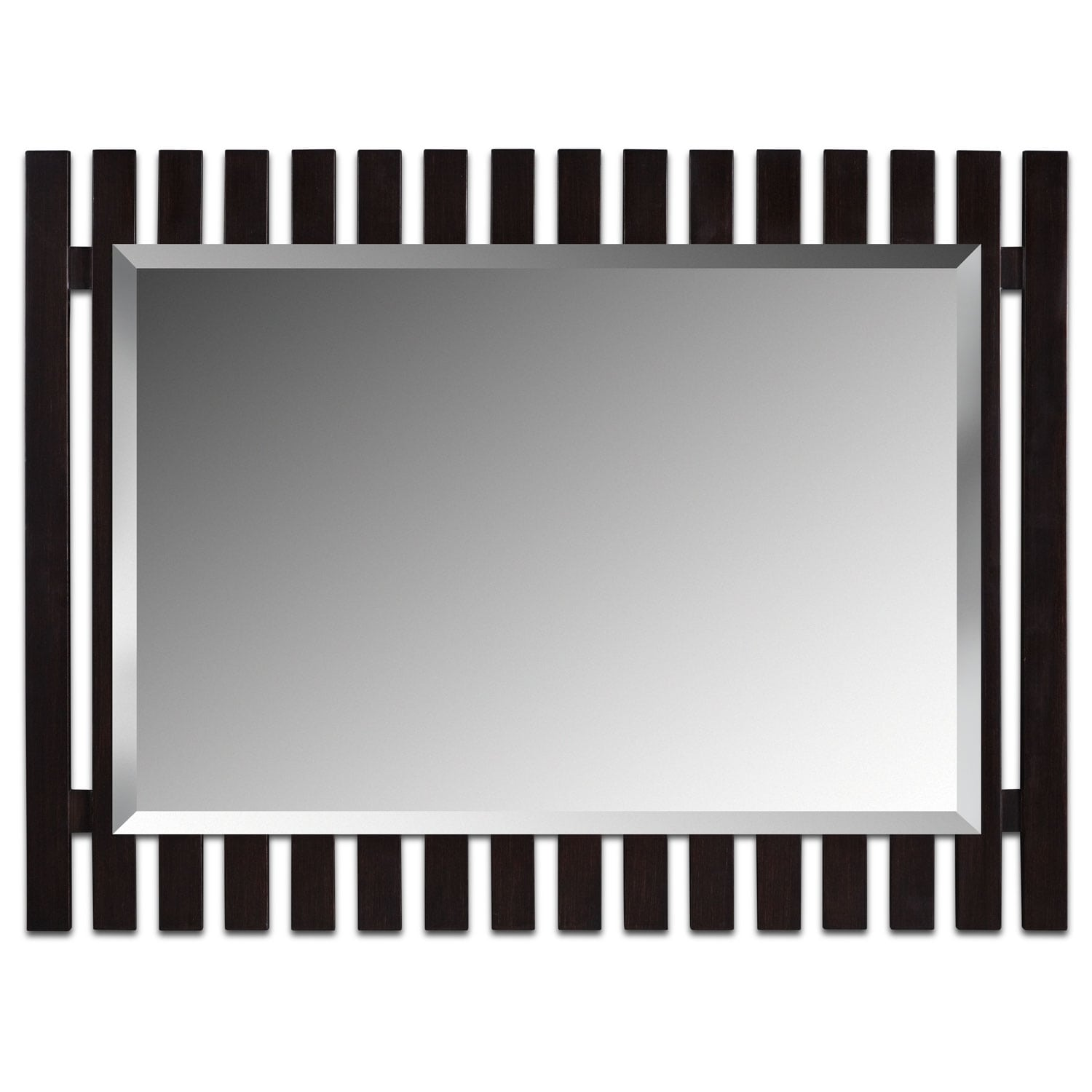 Home Accessories - Brown Fence Mirror