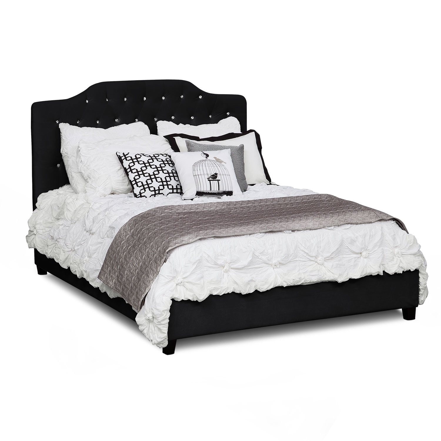Valerie Queen Bed - Black
