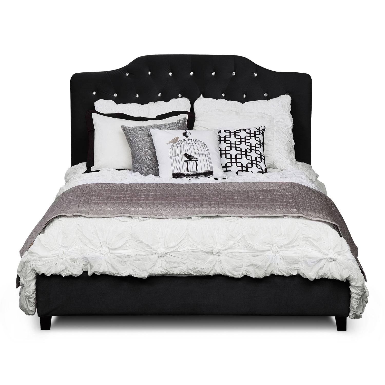 Valerie Queen Bed - Black | Value City Furniture