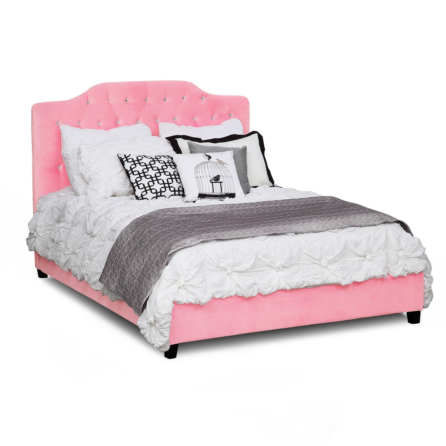 valerie queen bed pink
