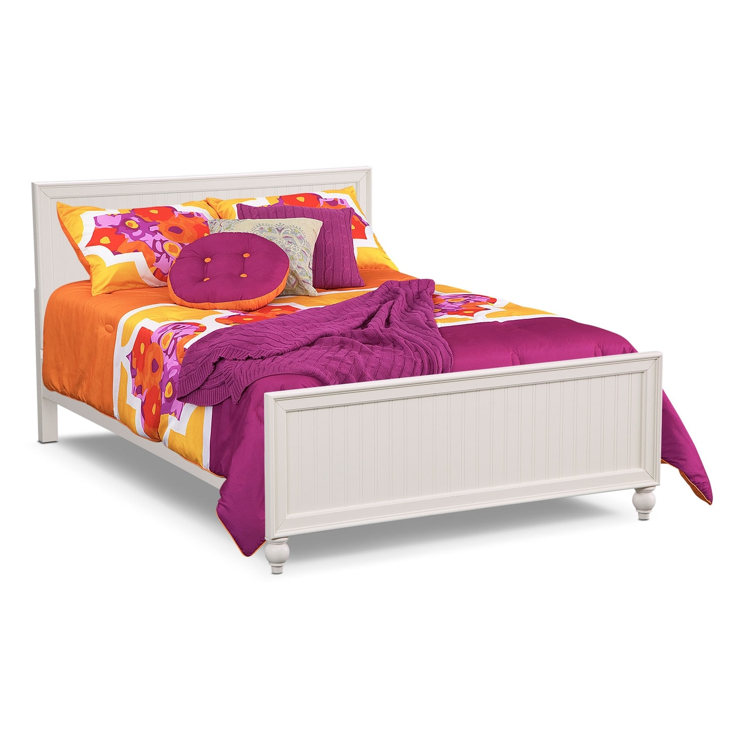 Colorworks Youth Full Bed - White