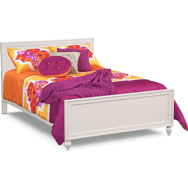 Bedroom Furniture - Colorworks Full Bed - White