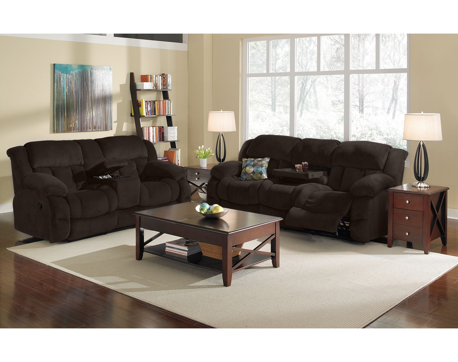 Value City Living Room Sets The Park City Collection Chocolate Value City Furniture