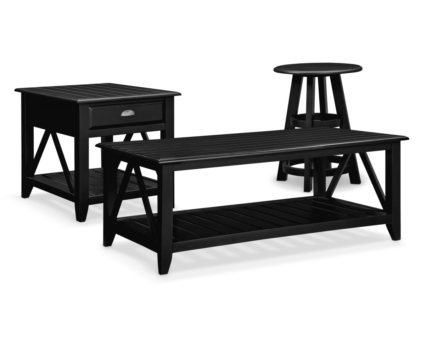 The Plantation Cove Coastal Table Collection   Black