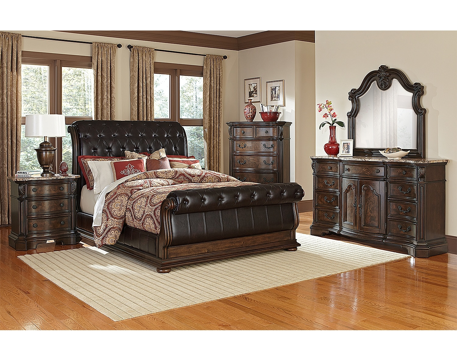 The Monticello Sleigh Bedroom Collection