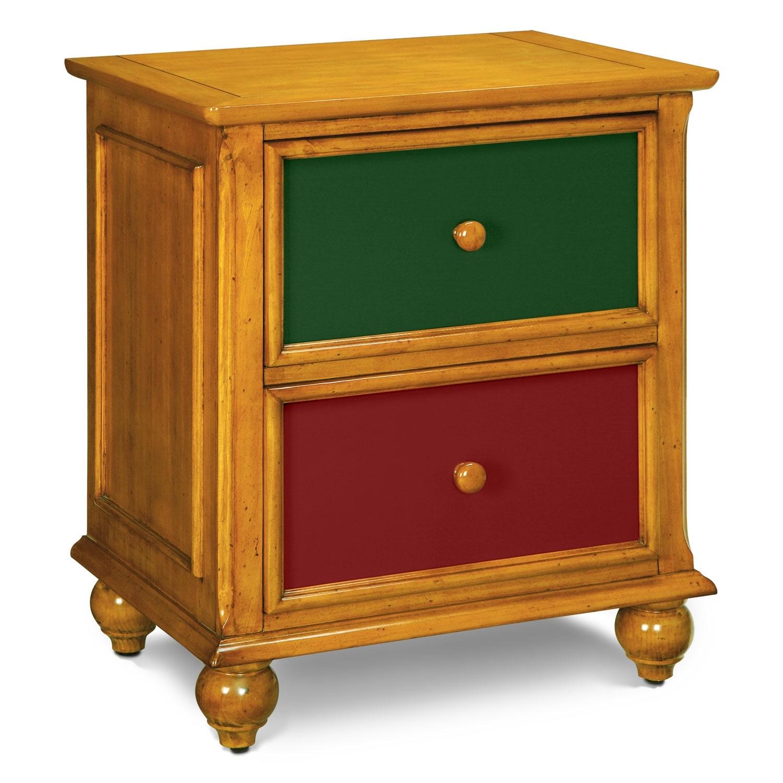 Kids Furniture - Colorworks Pine Nightstand