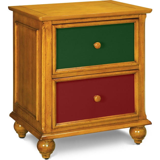 Kids Furniture - Colorworks Nightstand - Honey Pine