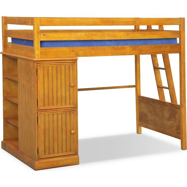 Colorworks Loft Bed Honey Pine