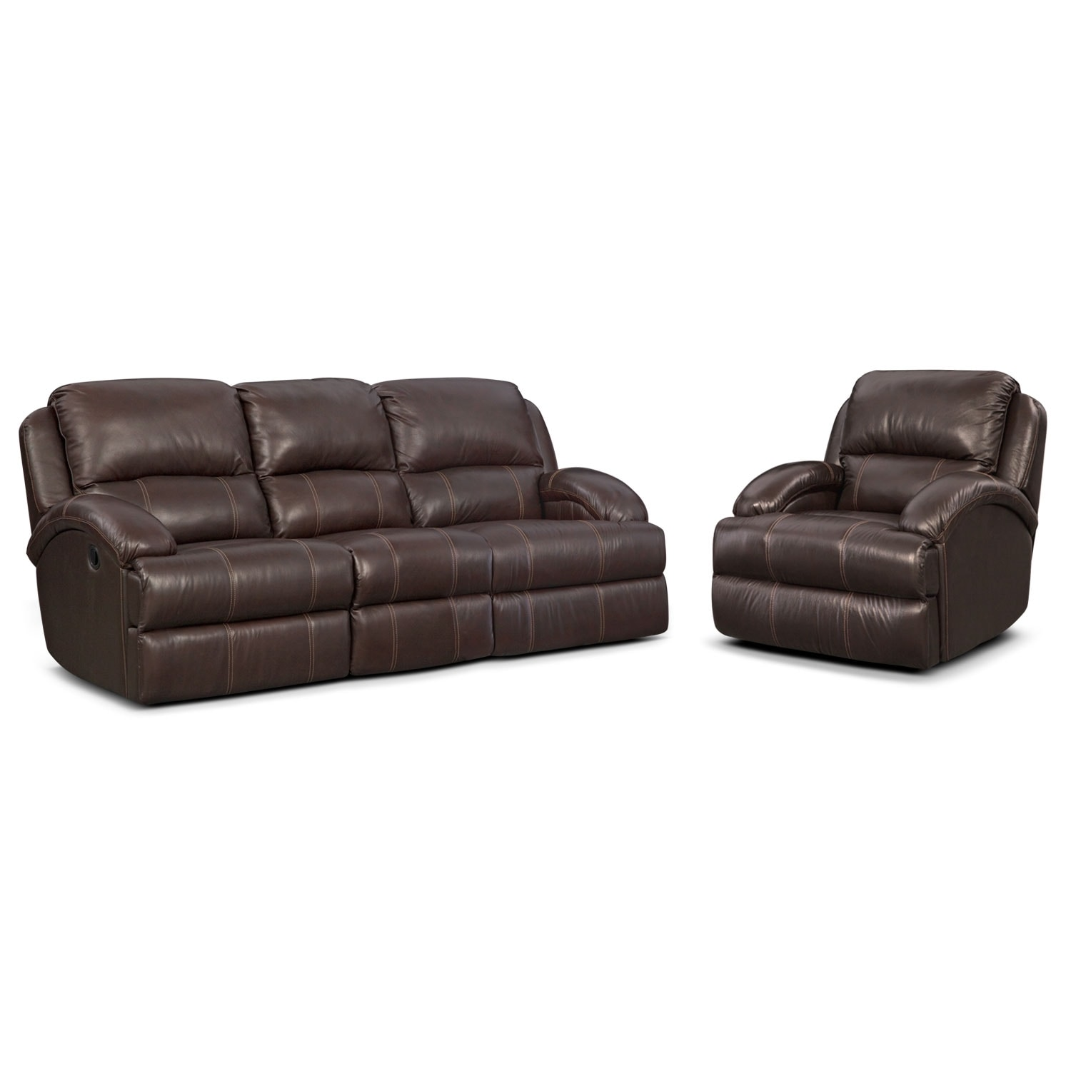 Living Room Furniture - Nolan 2 Pc. Reclining Living Room w/Glider Recliner