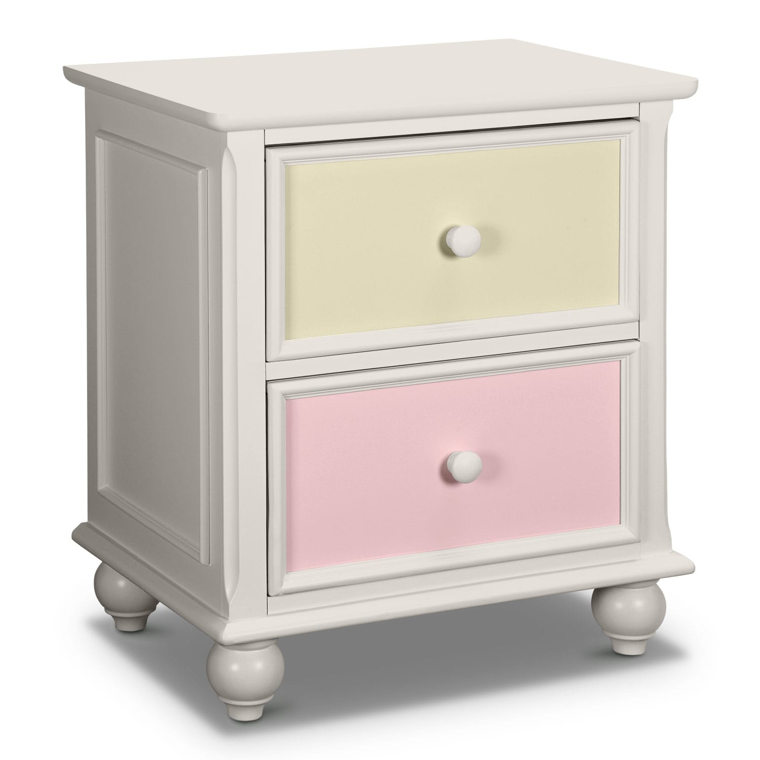 [Colorworks White Nightstand]