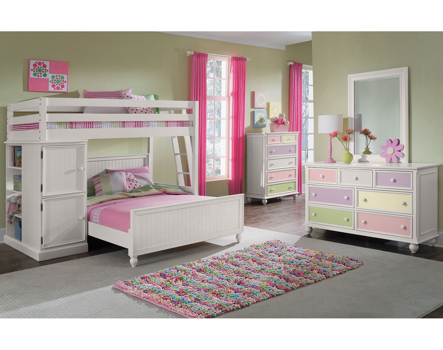 The Colorworks Loft White Collection. Kids  Tweens  and Teen Furniture   Value City Furniture and Mattresses