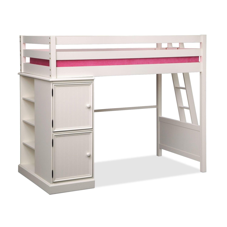 749 99 Colorworks Loft Bed White