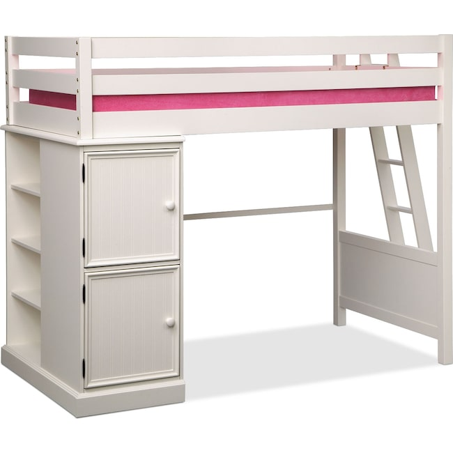 Kids Furniture - Colorworks Loft Bed - White