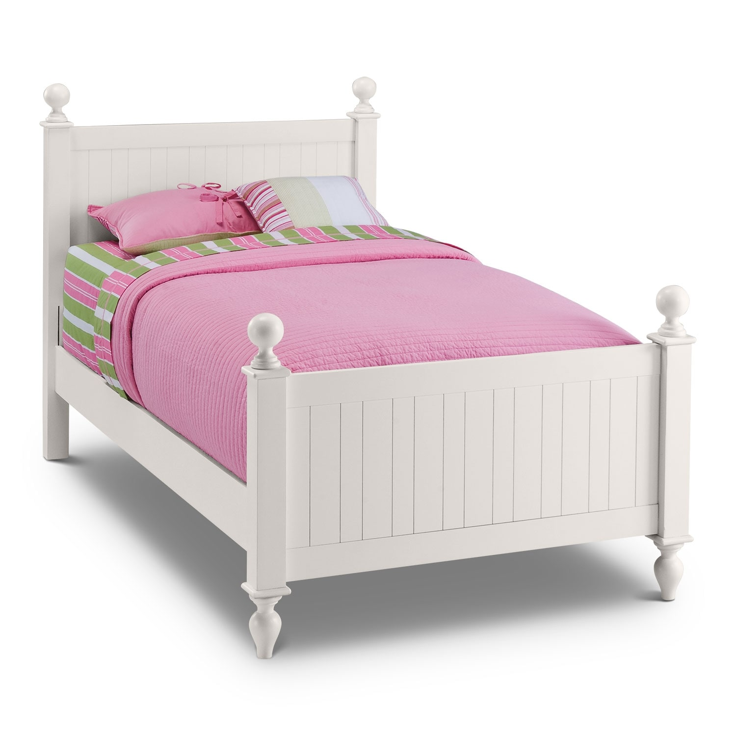 Colorworks 6 Piece Twin Bedroom Set White