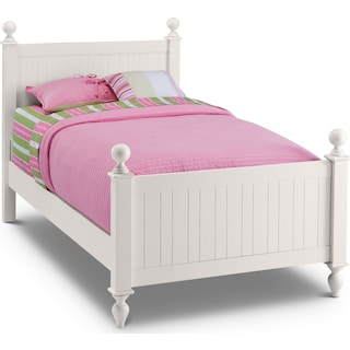 Colorworks Twin Bed - White