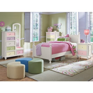 Colorworks Tall Chest and Mirror
