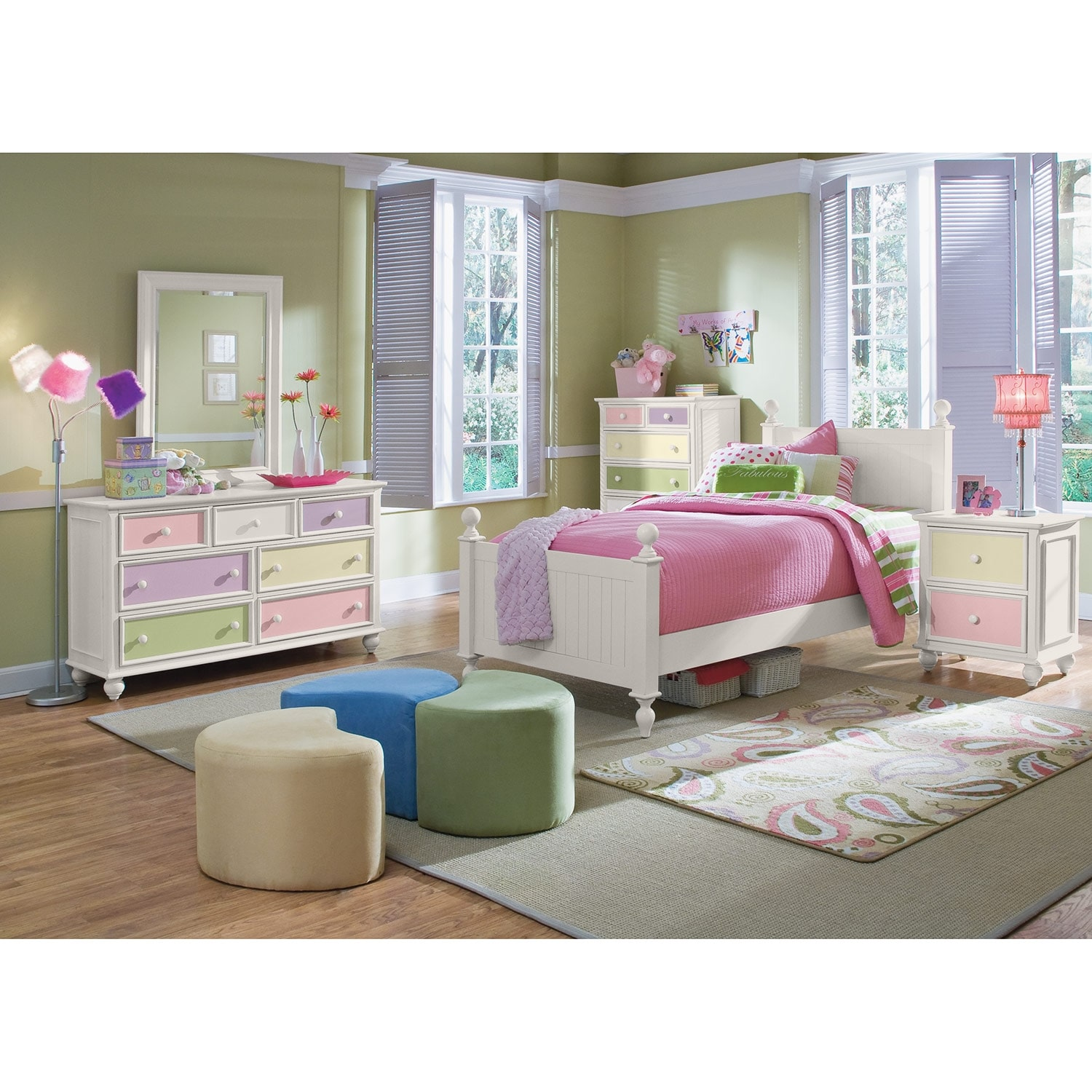 City Furmiture: Colorworks Full Bed - White