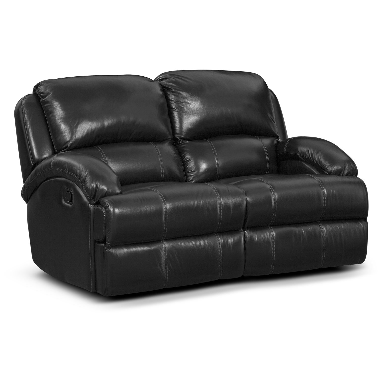 Nolan Dual Reclining Loveseat - Black