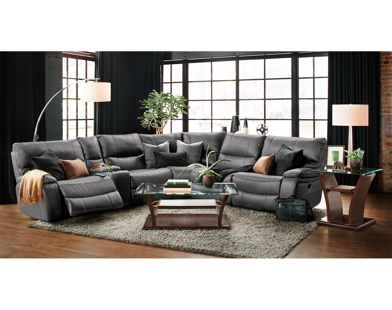 Value City Furniture Living Room The Orlando Collection Gray Value City Furniture