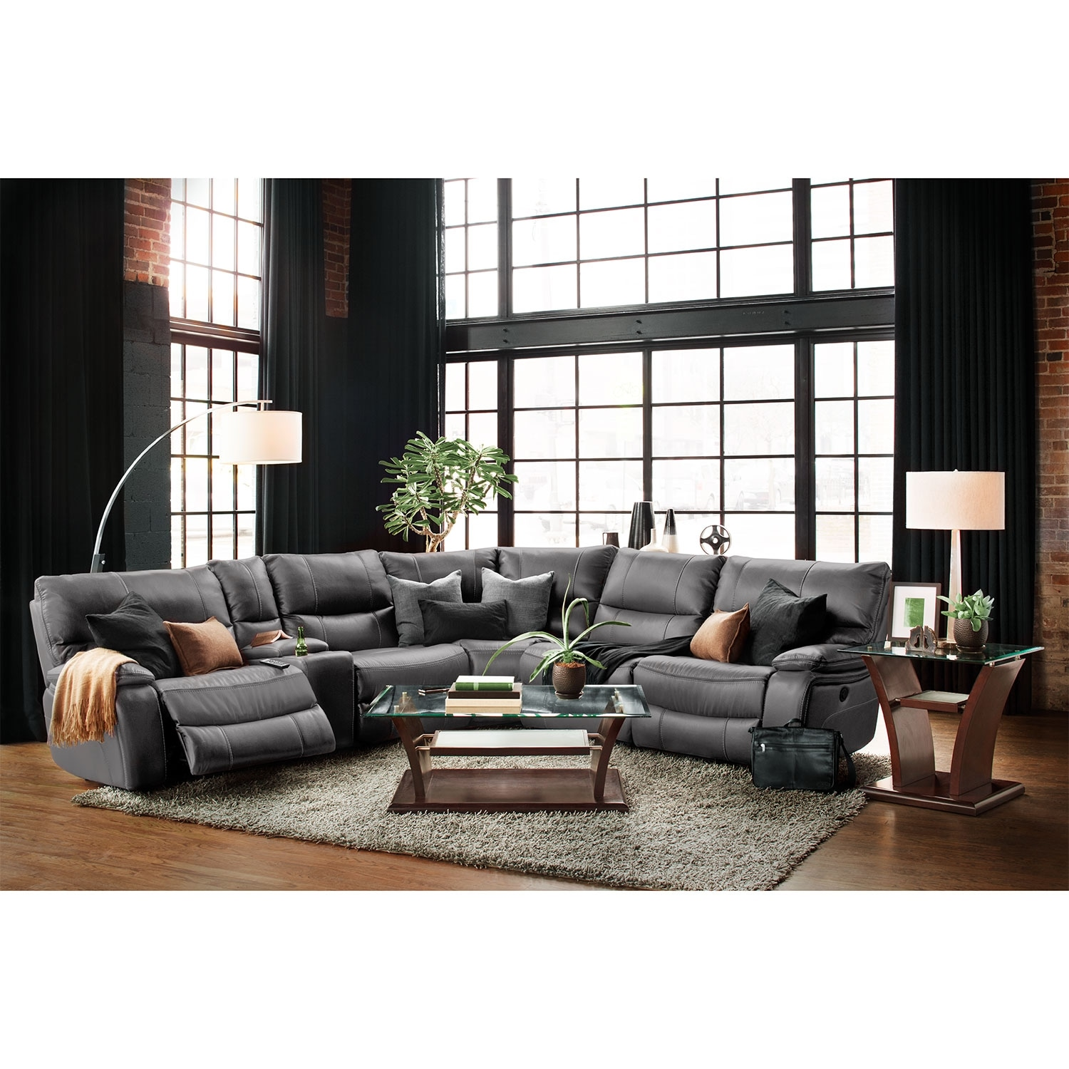 Orlando 6 Piece Power Reclining Sectional With 1
