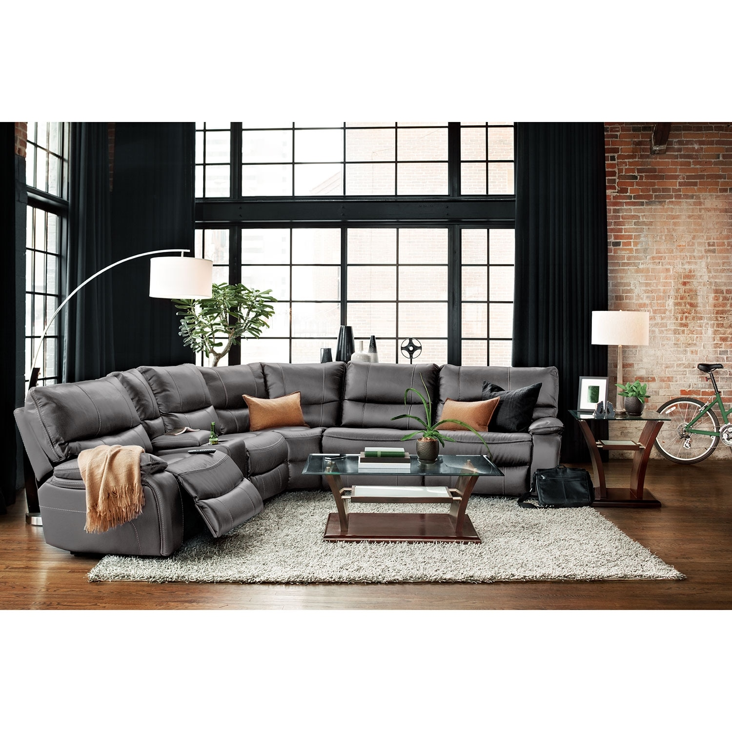 Orlando 6-Piece Power Reclining Sectional with 1 Stationary Chair