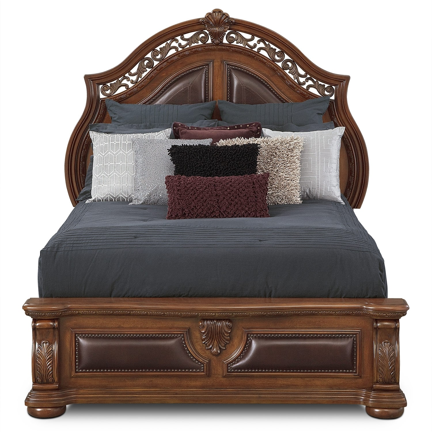 value city furniture beds morocco king bed pecan value city furniture 17689