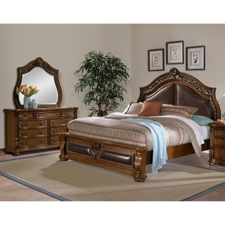 Morocco 5-Piece Queen Bedroom Set - Pecan