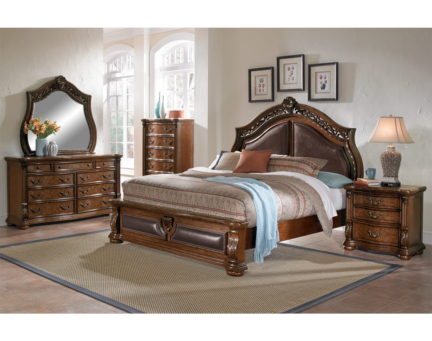 The Morocco Collection Pecan Value City Furniture and Mattresses