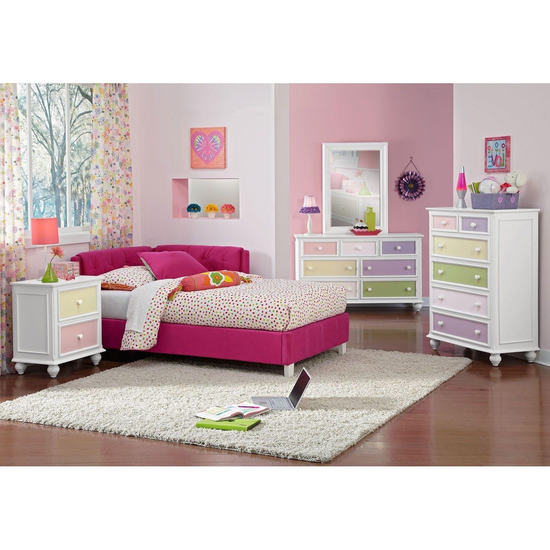 Jordan Twin Corner Bed - Pink
