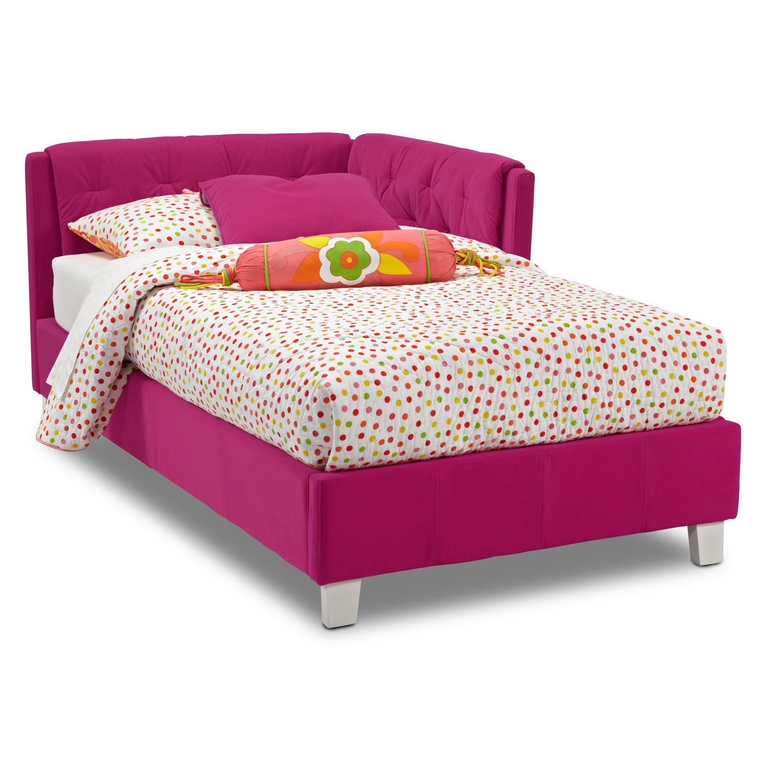 jordan twin corner bed pink - Girls Twin Bed Frame