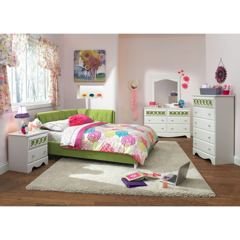 Jordan ii full corner bed value city furniture for Jordans furniture bedroom sets