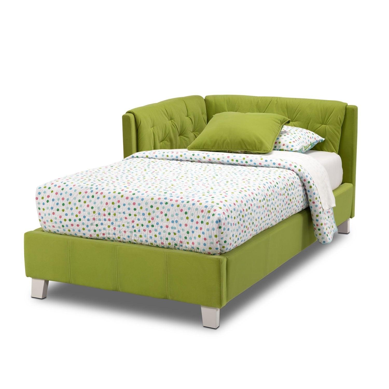 Design Corner Bed jordan twin corner bed green value city furniture click to change image