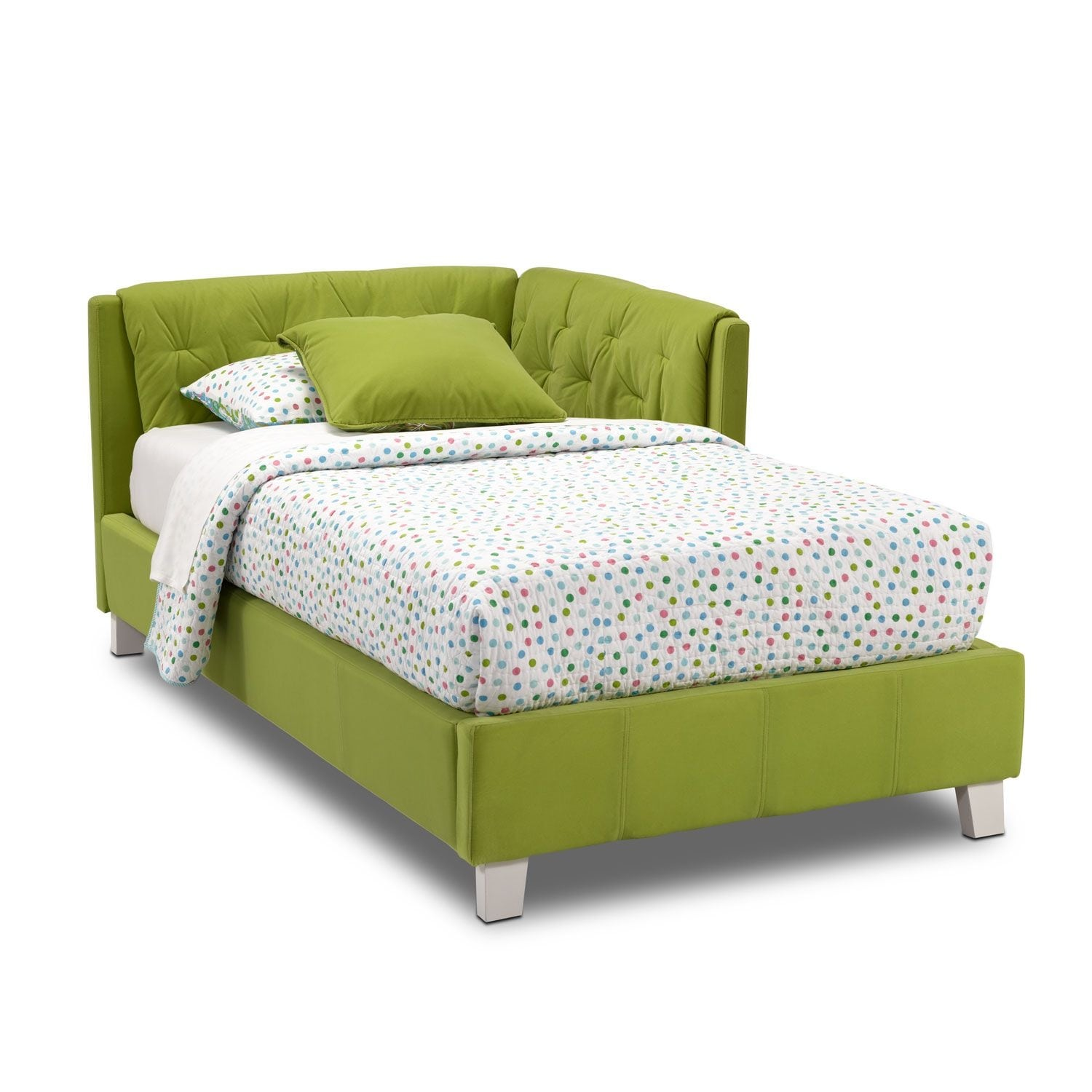 Jordan Twin Corner Bed   Green