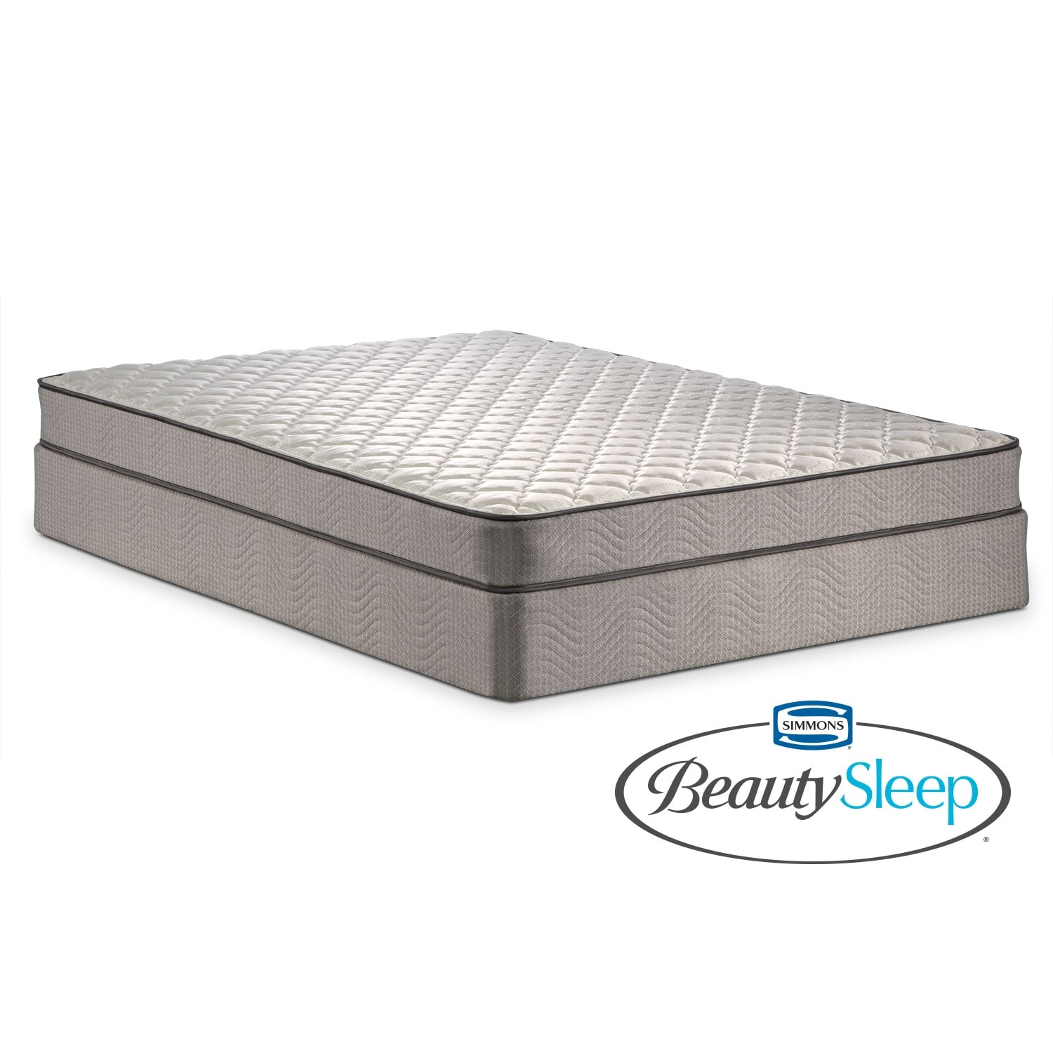 Mattresses and Bedding - Oakdale Queen Mattress/Low-Profile Foundation Set