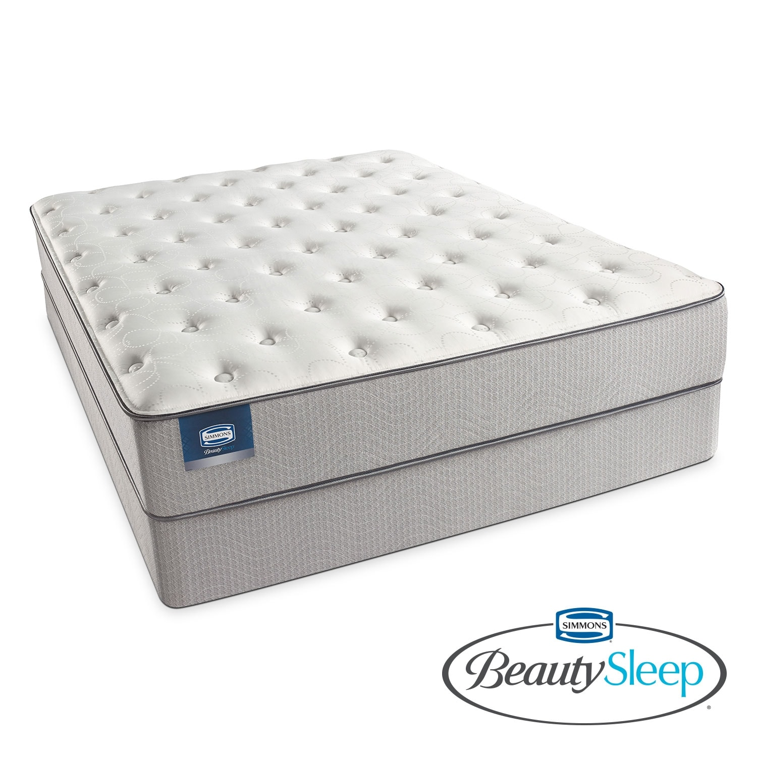 Mattresses and Bedding - Arthur Avenue Plush King Mattress/Split Low-Profile Foundation Set