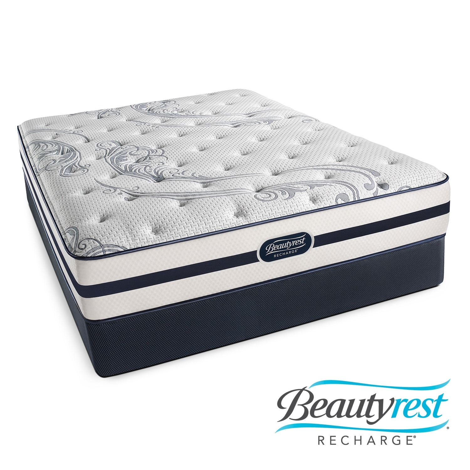 Alisa Luxury Firm King Mattress/Split Foundation Set