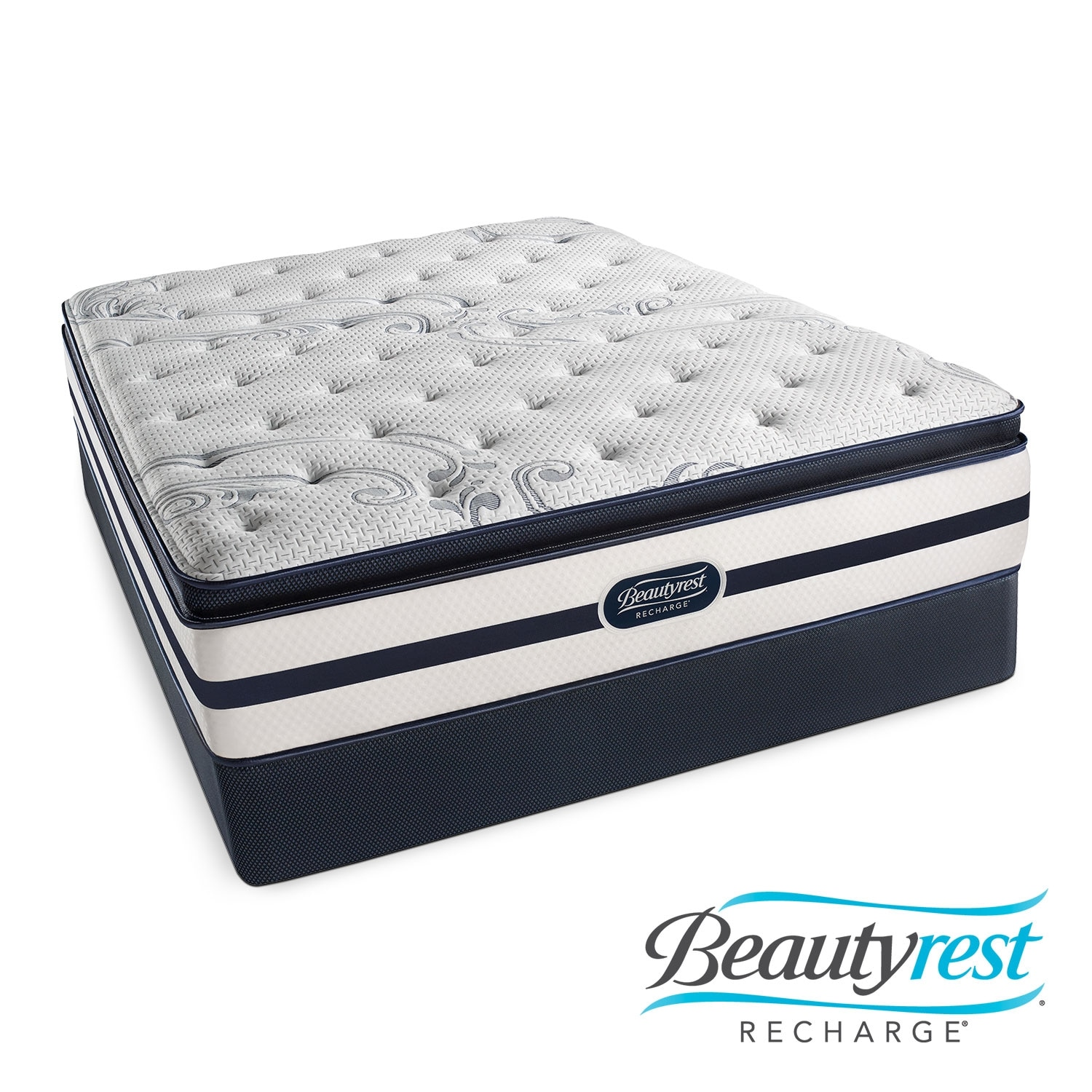 Mattresses and Bedding - Alisa Plush PT Queen Mattress/Low Profile Foundation Set
