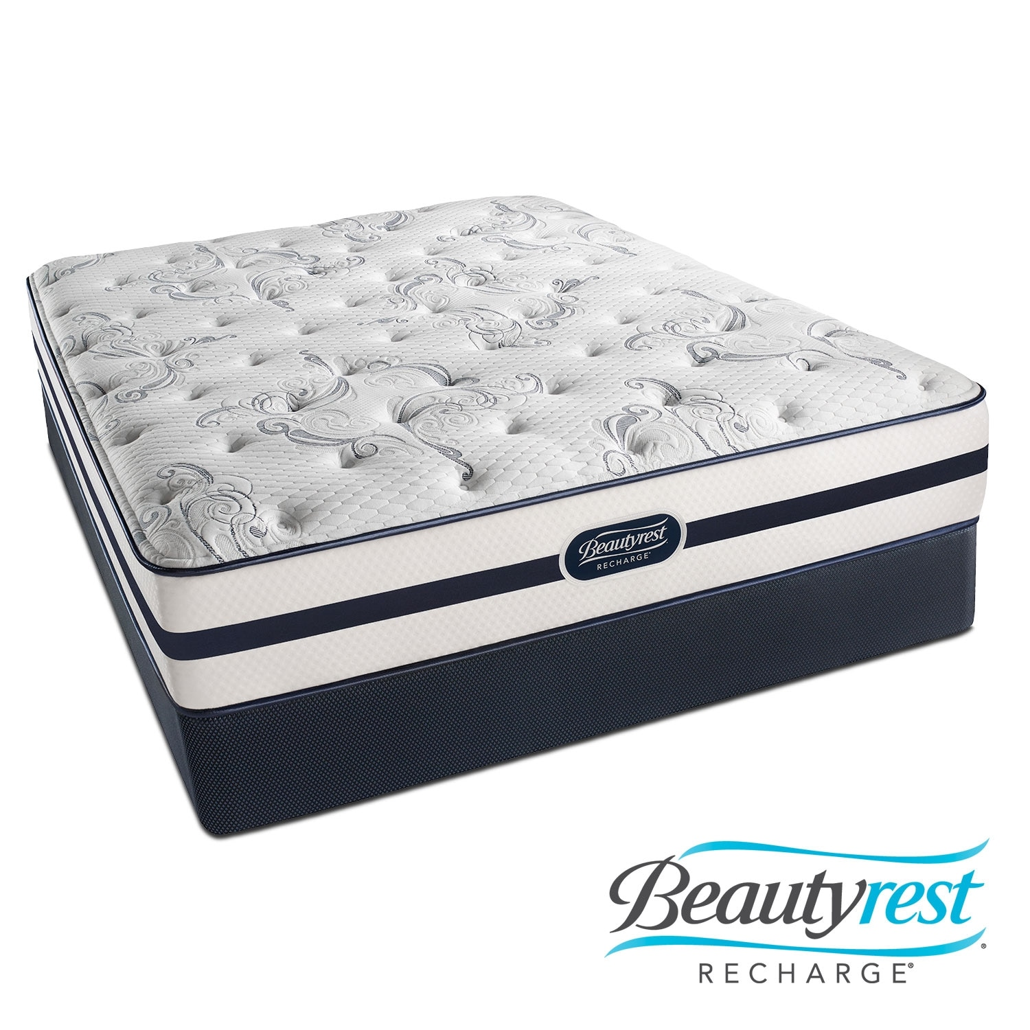 Mattresses and Bedding - Justine Plush King Mattress and Split Foundation Set
