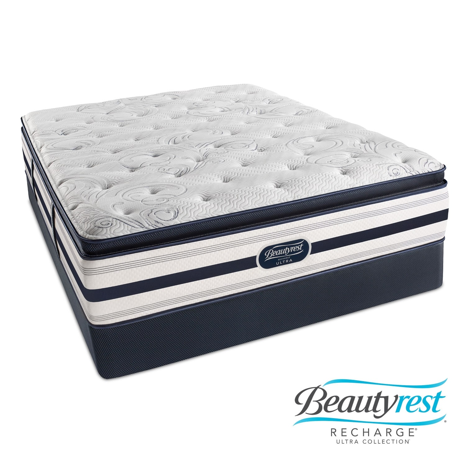 Mattresses and Bedding - Cerise Luxury Firm PT Twin Mattress/Foundation Set